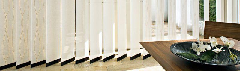 Vertikallamellen zur lichtregulierung innendekoration in for Js innendekoration